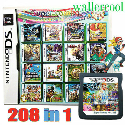 208 in 1 Game Card Cartridge Multicart For DS NDS /L NDSi 2/3DS LL/XL Christmas