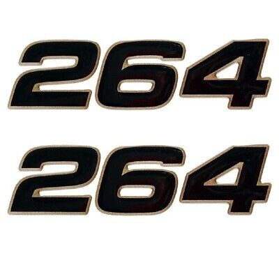 Mako Boat Raised Decals 138308 | 264 Black Metallic Gold (Pair)