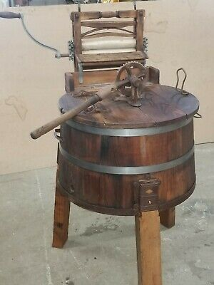 Antique wooden Barrel Washing Machine