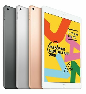 "Apple 10.2"" iPad 7th Gen 32GB 128GB Gray Gold Silver WiFi 2019 Latest Model"