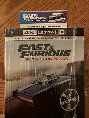 Fast & Furious: 8-Movie Collection (Digital 4K UHD + Blu-Ray) No 4K Discs.