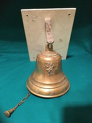 Vintage/Antique Decorative Solid Brass Wall Mounted Bell