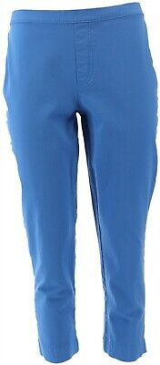 Isaac Mizrahi Flattering 24/7 Stretch Ankle Pants French Blue 12P NEW A261791