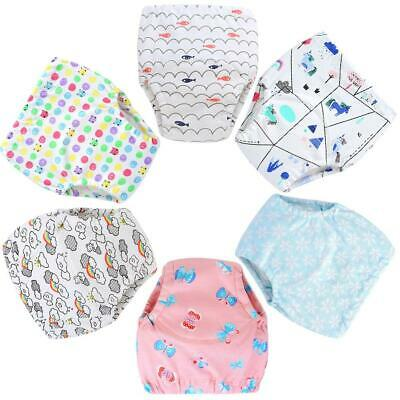 6pcs Newborn Baby Training Pants Infants Diapers Water Absorption Nappy Cloth