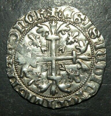 Medieval Coin Crusader Templar Cross Large Silver Ancient Antique King 1300's AD