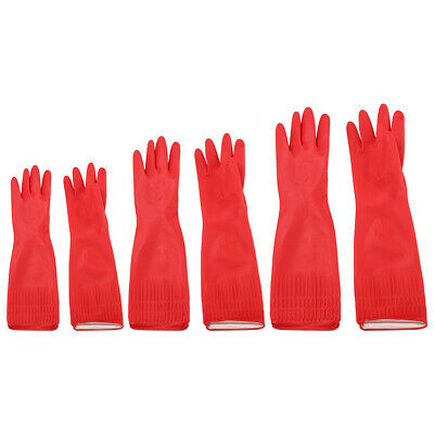 Strong Household Rubber Gloves Long Sleeve Washing Up Cleaning Kitchen Gloves