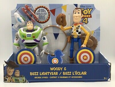 Toy Story 4 Woody and Buzz Lightyear Arcade Pack 2 Disney Pixar EXCLUSIVE NEW