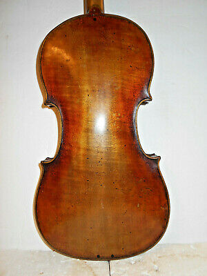 "Old Antique Vintage  ""Joh. Bapt. Schweitzer"" 1 Pc. Back Full Size Violin NR"