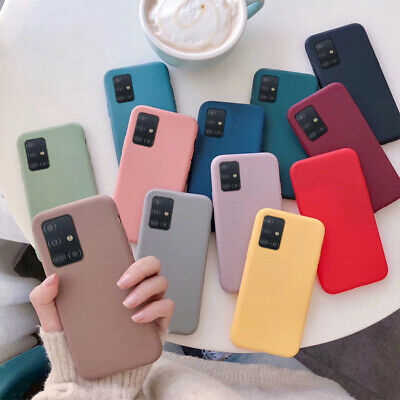 For Samsung Galaxy Phones Shockproof Silicone Candy Soft Rubber Matte Case Cover