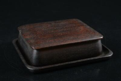 G8157: Japanese Wooden CONTAINER for article Accessories Case Box Tea Ceremony