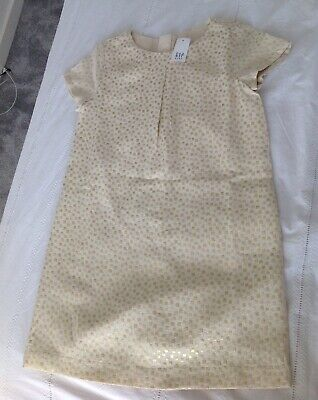 Brand New With Tags Gap Kids Girls Gold Dress Size M