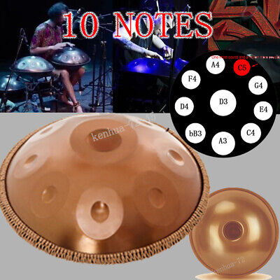 "22"" 10 Notes Professional Hand Pan Handpan Drum Handmade Good Sound"