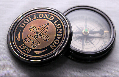 Vintage Maritime Dolland London Antique Brass Compass Nautical Gift Item 2""