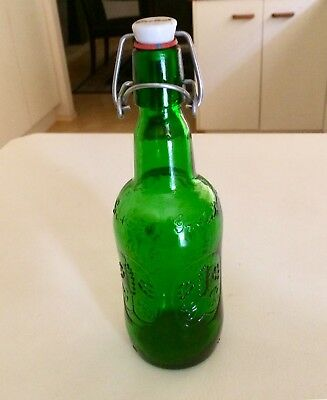 Vintage Grolsch Green Beer Bottle - Embossed - Swing Top