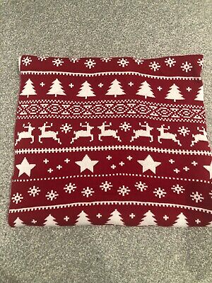 The Little White Company Christmas Blanket Red And White Knitted