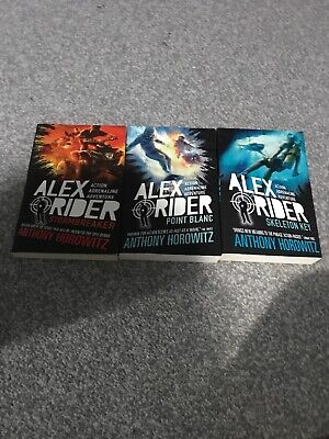 Alex Rider Book 1,2 and 3 Anthony Horowitz Young Spy Children Novel