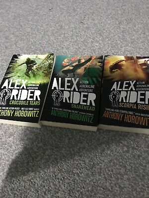 Alex Rider Books 7,8 And 9 Anthony Horowitz Young Spy Children Novel