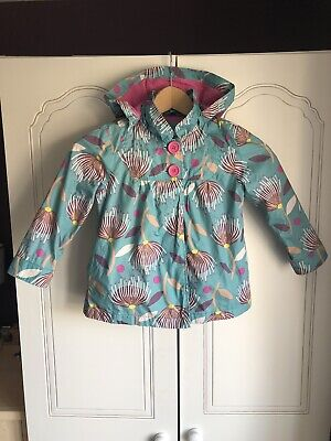 John Lewis Girls Rain Coat with Detachable Hood - Age 5