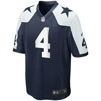 NWT DALLAS COWBOYS Dak Prescott #4 Navy Alternate Game Jersey M, L, XL
