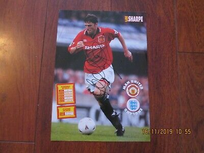 Lee Sharpe Manchester United Autograph Poster