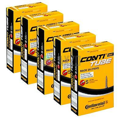 Continental Race 28 Bike Inner Tubes 700 X 18-25 Presta Valve PV 42mm 4 Pack