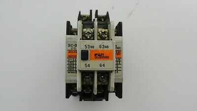 Fuji Electric SC-03 contactor with SZ-A20 auxiliary contact