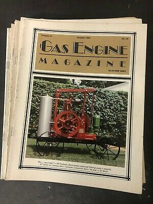 Vintage GAS ENGINE MAGAZINE Lot of 19 from 1980s