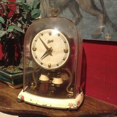 vintage German Mantle clock,with dome and key ,made by SCHATZ(Restoration job)