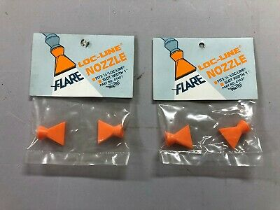 LOT OF 2 PK  LOC-LINE 41407 Flare Nozzle, 1/4 Hose Inside Dia LOCLINE NEW