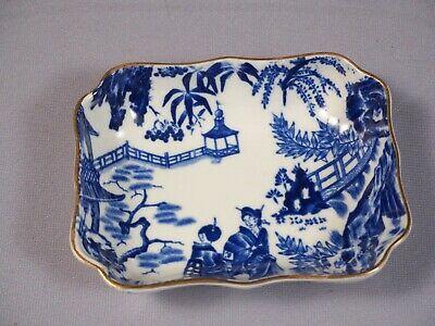 Royal Crown Derby Blue Mikado Rare Nut Candy Snack Dish Tray Bone china 1953