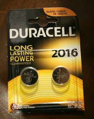 2 x Duracell CR2016 3V Lithium Coin Cell Battery 2016 *FAST & FREE DISPATCH*