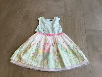 girls peppa pig party dress, age 4-5