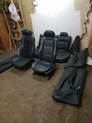 BMW E46 3 Series Coupe Full Black Leather Interior & Door Cards Complete Seats