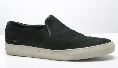 how to buy low price footwear COMMON PROJECTS MENS Black Waxed Suede Slip-On Sneakers US11 ...