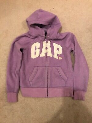 Gap Girls Purple Hoodie Age 8-9