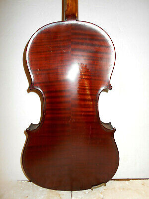 "Antique Old Vintage French ""Mirecourt"" 2 Pc Back Full Size Violin - No Reserve"