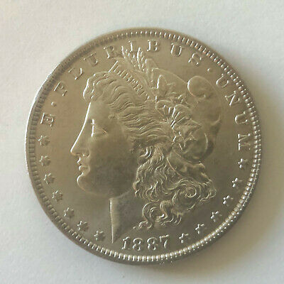 1887 • $1 Morgan Silver Dollar • USA United States coin currency