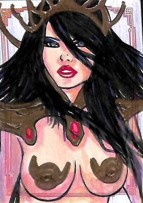 2019 Dejah Thoris Sketch Card by Frank Kadar Colored by Nicieza
