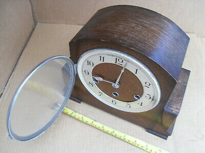 Vintage Nice Kemp Bros Bristol 5 Chime Mantelpiece Clock Haller Brass Movement