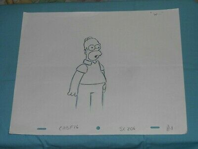 original THE SIMPSONS PRODUCTION DRAWING Homer Simpson