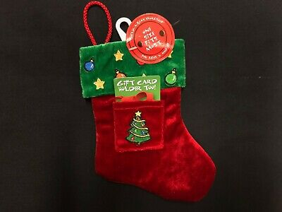 build a bear Christmas stocking with gift card holder (lot of 3)