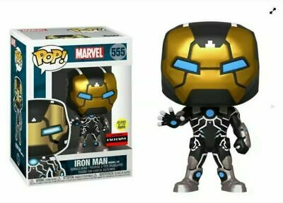 NEAR MINT Funko POP Iron Man Model 39 AAA Anime Exclusive #555 GITD SHIPPING NOW