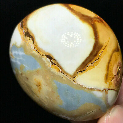 Top NATURAL POLISHED POLYCHROME JASPER From Madagascar 81g 53mm A101005