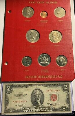 Eight Rare Assorted Unc World Coins & Grade Nice Rare 1953-A $2. Red Seal Pic's