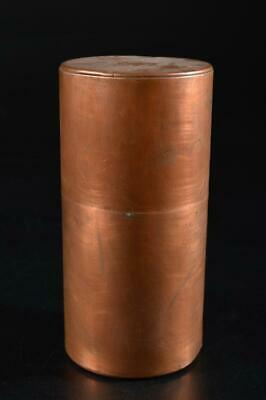 G3746: Japanese Copper TEA CADDY Chaire Container, auto Tea Ceremony
