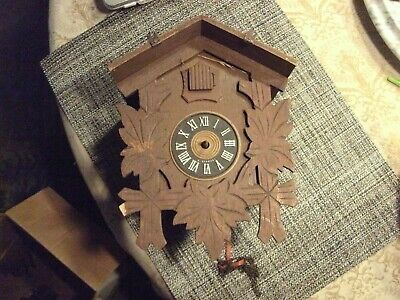 8#    Antique or Vintage Cuckoo Clocks Plus Parts for Parts or Repair - As-Is