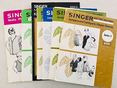 Vintage SINGER knitting Machines Patterns And Ideas Booklet Series
