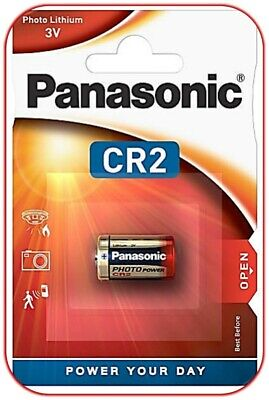 100 X Panasonic CR2 DL2 3V Lithium puissance Photo Piles sous Blister Neuf & Ovp