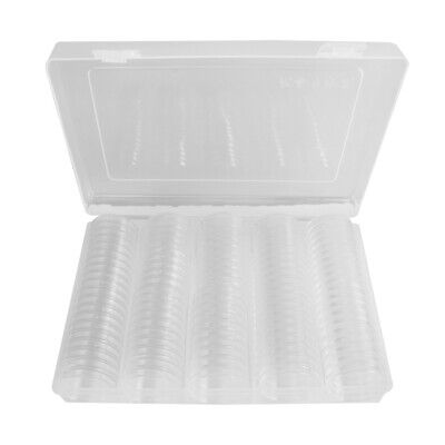 AU 100pcs Clear Round Case Coin Capsules Storage Holder Display Container