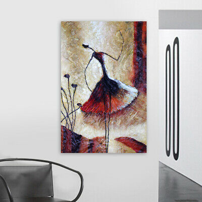 Hand Painted Oil Painting Canvas Modern Wall Art Decor Framed Abstract Dancer